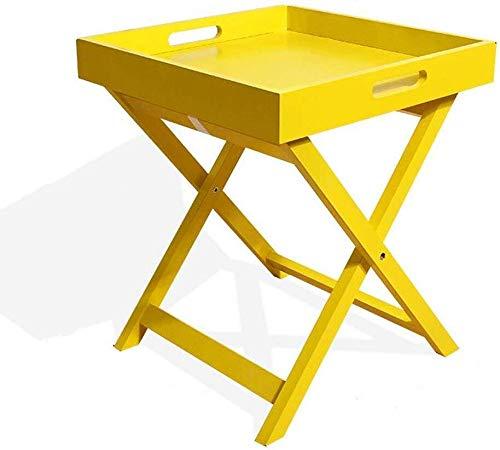 Draagbare kleine koffietafel, inklapbaar, houten tafel, minitafel, voor keuken, woonkamer, slaapkamer, opslag, klein, nachtkastje, Verdi 40 *