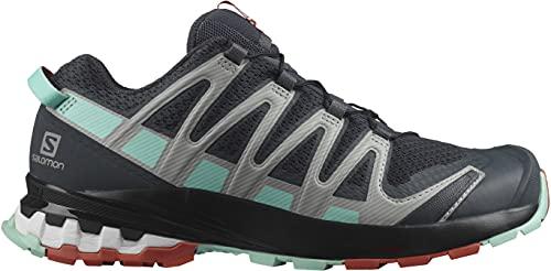 Salomon XA Pro 3D V8 Mujer Zapatos de trail running, Negro (Ebony/Yucca/Mec Orange), 36 2/3 EU