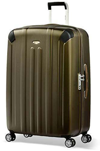 Eminent Valigia Boulder 77cm 103L Valigia grande ultra leggera 4 Ruote doppie silenziose Protezione addizionale dei bordi & Lucchetto TSA Marrone