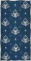 紋章クラシックリーガルフルールドリスオーナメントパターンソフト高吸収性大型装飾ゲストハンドタオル40x70cm