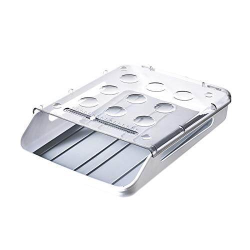 YUMEIGE Kosmetische Aufbewahrungsbox Ei Aufbewahrungsbox, Haushaltskasten des Haushalts, Küche, Küchennahrungsregal, Schubladendesign, transparentes Design, Stapeldesign, kann bei der Bottomtemperatur