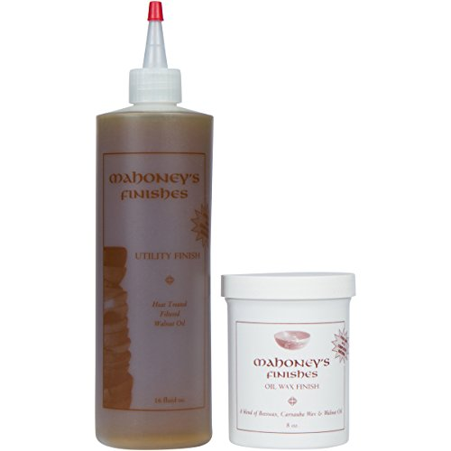 Mahoney's Finishes Walnut Oil and Wax Combo: Food Safe Wood