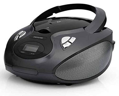 Bluetooth CD MP3 Boombox AM FM Tuner with Digital Display Memorex MP3451BLK - Black