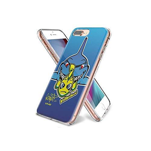 YuBAOsM #004F iPhone 7 Plus Funda, iPhone 8 Plus Funda, Protección a Prueba de Golpes de Silicona Flexible, Cubierta Delgada Delgada y Transparente para iPhone 7 Plus/iPhone 8 Plus YBF/004