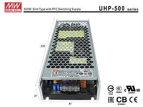 LEDLUX MW75003 netvoeding MeanWell CV 12V 500W 41,7A zonder ventilator UHP-500-12 transformator AC 220V A DC 12V voor LED-lampen interieur