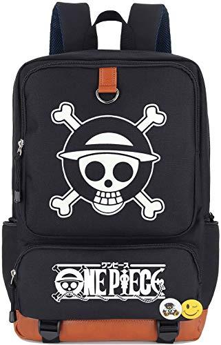 Roffatide Anime One Piece Luminous Backpack Straw Hat Crew Book Bag Laptop School Bag