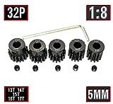 32P 5mm Pinion Gear Set 13T 14T 15T 16T 17T with Hex Key for RC by MakerDoIt