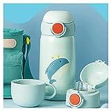 Tazza d'Acqua per Bambini Tazza di Acqua Sport Cup Bicchiere Antigoccia Bambini Bottiglia Termica con Cannuccia in Silicone Flessibile Resistente ai Morsi Bere l'apprendimento Cannuccia