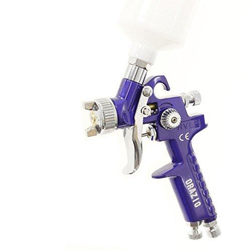 ORAZIO 0.5MM Mini Paint Spray Gun H.V.L.P Aluminum Gun Cup Gravity Car Van 22145605