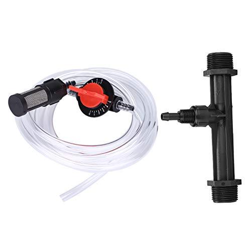 Wincal Inyector de Fertilizante de riego-Kit de Equipo de riego de jardín Superior G3/4 Aplicador de Fertilizante + Interruptor + Filtro + Tubería de Agua