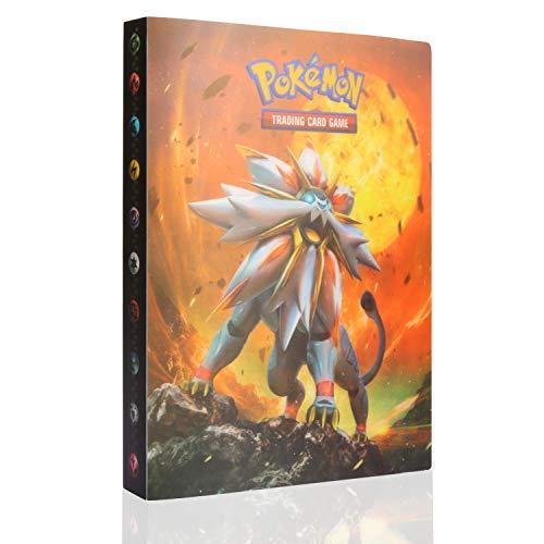 GUBOOM Álbum de Pokemon, Álbum Titular de Tarjetas Pokémon, Tarjetero Pokémon, Protector Cartas Pokemon, Fundas para Cartas Pokemon hasta 240 Tarjetas Capacidad (Solgaleo)