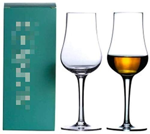 Single Malt Crystal Glass cognac borrel Proever van de Wijn Drinking Goblet Cup, 2 stuks, 140ml zhihao (Color : 2 Pcs)