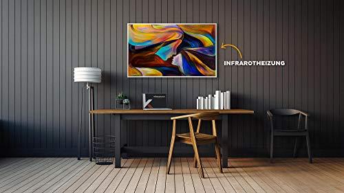 450W/600W/800W/1000Watt Infrarotheizung mit TÜV – Bildheizung Abstrakte Kunst – Smart Bild 2*