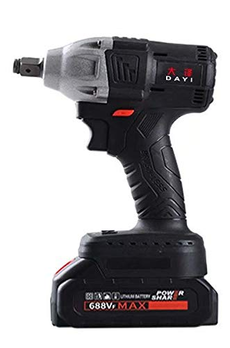 Lithium rechargeable wrench brushless impact high-power torque electric jackhammer carpentry frame worker auto mechanic socket 680n two Battery and accessories