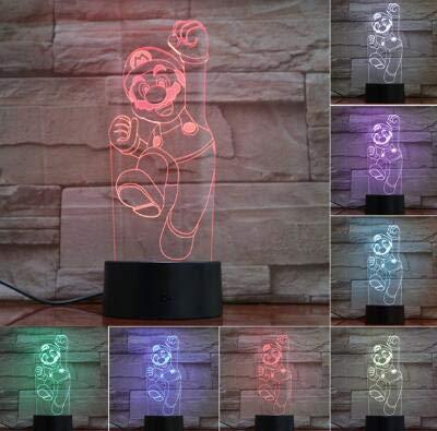 Spiel 1 Up Mushroom Kids Led Nacht Kind Schlafzimmer Dekoration 3D Tischlampe Kinder Spielzeug Geschenk ed Cool Baby Nachtlicht