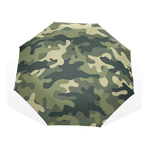 Regenschirm Camo Camouflage Green 3 Falten Anti-UV Windproof Lightweight