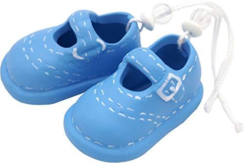 Unbekannt Babyschuhe Blau Streudeko Keramik Tortenaufsatz Junge Taufe Tischdeko