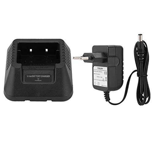Cargador de batería USB/Cargador de batería de Coche para Baofeng UV-5R DM-5R Plus Walkie Talkie UV 5R Radio de jamón UV5R Radio bidireccional Cargador de batería de Iones de Litio(YO)