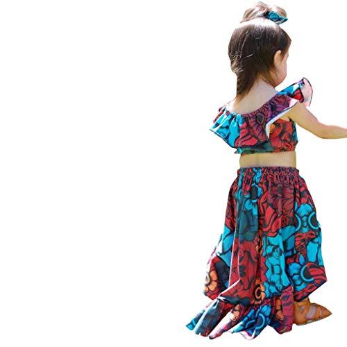 Julhold Zomer Baby Kid Meisje Elegante Verse Etnische Stijl Strik Losse Toppen+Bloemen Print Rok Outfits Set 2019New