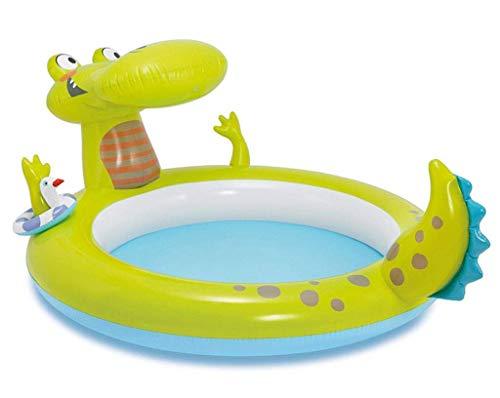 DFKDGL Klappbecken Schwimmbad, Kinderbecken, aufblasbares Sommer-Baby-Planschbecken, 198-mal, 160-mal, 91CM F Ideal für alle Kinder und Erwachsene