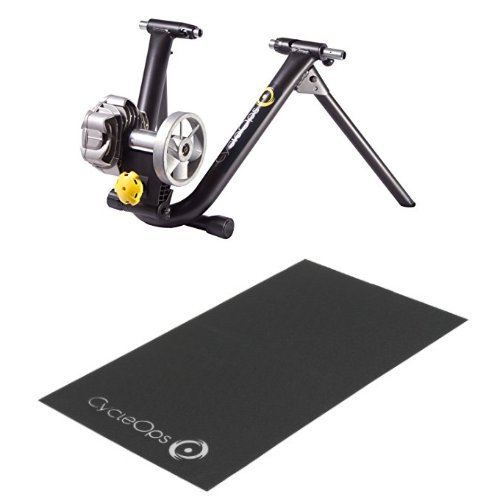 CycleOps Fluid2 Bike Trainer and CycleOps Training Mat for Indoor Bicycle Trainers