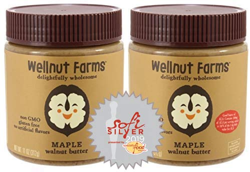 Wellnut Farms Creamy Walnut Butter Maple 11 Ounce 2 Count Gluten Free Keto Friendly Omega 3 Vegan