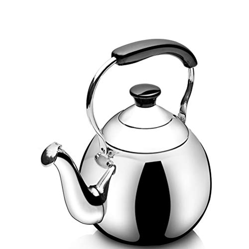 Stainless Steel Tea Kettle, Stove Top Whistle Teapot With Heat-resistant Ergonomic Handle, Suitable For Loose Tea Coffee (Size : 4L)