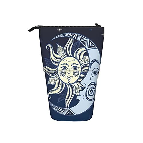 Süßes Federmäppchen,Brennender Basketball,Teleskop-Federmäppchen Stand-Up-Stift-Tasche,Reißverschluss Portable Box Kosmetiktasche Make-up-Tasche für Frauen