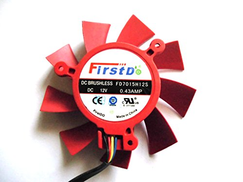 firstd 65 mm fd7015h12s 12 V 0,43 A 4 Draht für AMD HD7790 R9 270 Video Fan
