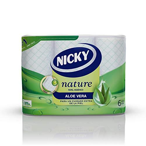Nicky Nature Papel Higiénico 6 Rollos