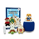 Storypod Kids Storytelling Music Player - Interactive Audio Learning Toy for Toddlers & Children Ages 3-9 - Starring Lovable Yarn Figurines and Books (Bedtime Bundle with 5 Crafties & 1 Book)