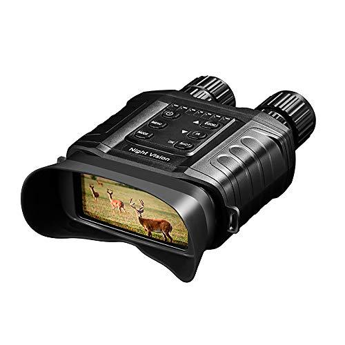 Prismáticos de visión nocturna 4X Zoom digital IR visión nocturna alcance con 500 m Full Dark Distance Cámara Modos de vídeo con 32 GB TF tarjeta