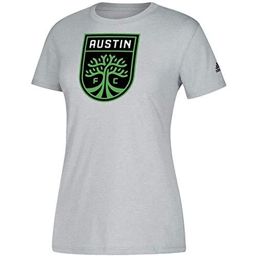 adidas Austin FC Women's Team Logo Heathered Grey Climalite T-Shirt (X-Large)