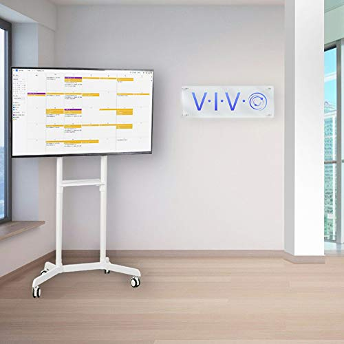 VIVO Mobile Premium TV Cart for 37 to 70 inch Flat Screens, Samsung Digital Flipchart, Microsoft Surface Hub 2S, Luxury Portrait to Landscape TV Display Stand with Wheels, White STAND-TV02PW Photo #3
