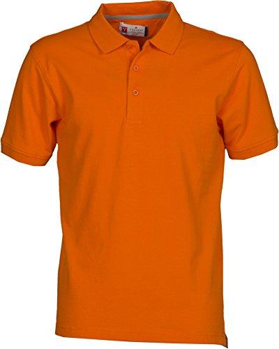 PAYPER Herren Polohemd Venice 100% Baumwolle Größe S bis 5XL Kurzarm 3 Knöpfe Nackenband, Farbe:orange;Größe:XL