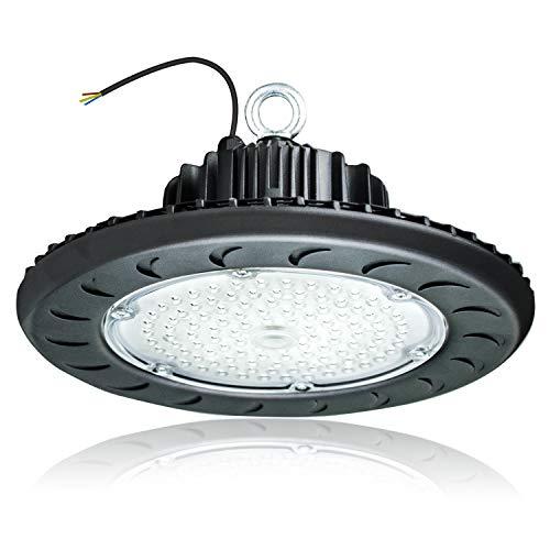 100W LED High Bay Light,5500K Bright White,12500 Lumens,110V-277V,350W-400W HPS Equivalent,Great High Bay LED Shop Lights for Warehouse Lighting Applications (100Watt)