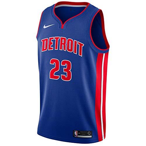 Nike DET Mens NBA Swingman Road Jersey 864473-402 Size M