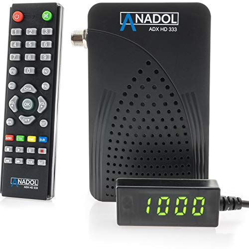 Anadol HD 333 1080p HD-TV - digitaler Mini Sat-Receiver - Multistream und YouTube Receiver -Full-HD Mini-Receiver - Mini-Digital-Receiver für Satellit - ASTRA HOTBIRD TÜRKSAT vorinstalliert