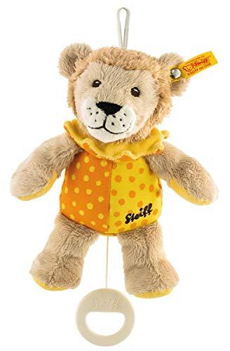 Steiff Leon Löwe Spieluhr - 20 cm - Kuscheltier für Babys - weich & waschbar - beige / gelb / orange (240614)