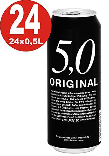 1 x 24-5.0 Original Pils 0,5L Dosen 5% Vol Günstiges Dosenbier EINWEG