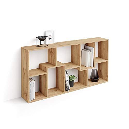 Mobili Fiver, Estantería XS Iacopo (160,8 x 80 cm), librería Color Madera Rustica, Aglomerado y Melamina, Made in Italy