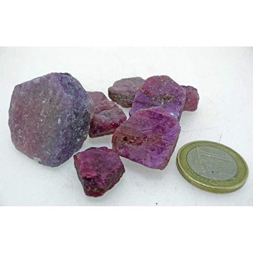Rubi Bruto Piezas Entre 2-5 Gramos Minerales y Cristales, Belleza energética, Meditacion, Amuletos Espirituales