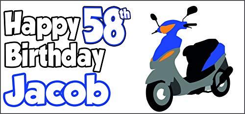 Cartel personalizable para scooter, diseño de hijo, abuelo, papá, hijo, hijo, hijo, nan, madres y madres (paquete de 2)