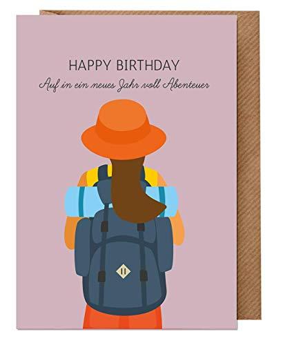 Geburtstagskarte Teenager Mädchen - Jugendliche: Happy Birthday (Karte mit Umschlag, Recycling-Papier, 13 14 15 16 17 Jahre) | dabelino