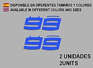 Ecoshirt PW-UPO6-RSLH Stickers 99 Lorenzo F63 Aufkleber Decals Autocollants Adesivi Moto GP, Blue