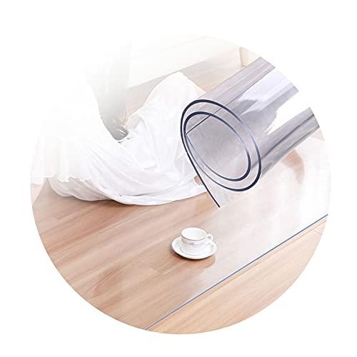 ASPZQ Estera de La Silla de Oficina 1,5/2,0 Mm Espesor, Totalmente Transparente Alfombrillas Protectoras Suelo Resistente Al Rayado Fácil de Limpiar (Color : 1.5mm, Size : 90x160cm)
