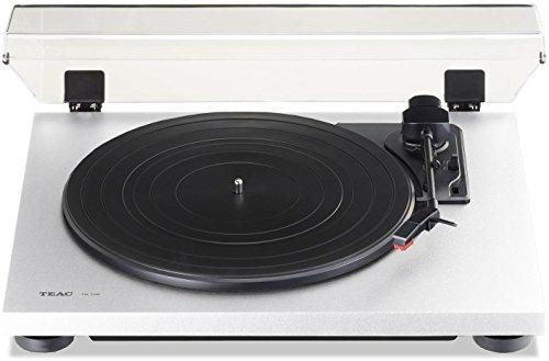 Teac TN-100 (W) Plattenspieler (33/45 Umdrehungen, integrierter Phono-Vorverstärker, digitaler USB-Ausgang, Riemenantrieb, MM-Tonabnehmer) weiß