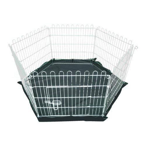 Ellie-Bo Laufstall für Hundewelpen, für drinnen und draußen, leichtgewichtig, verzinkt, mit Netz als Dach, 6Teile