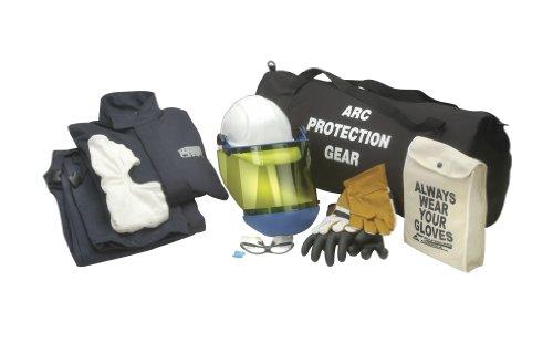 Chicago Protective Apparel Arc Flash Jacket & Bib Kit, 12 cal Extra Large & Size 10 , blue -AG12-XL-10