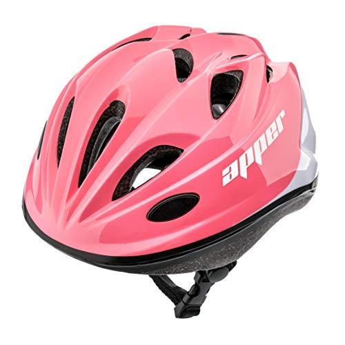 Meteor Casco Bici Ideale per Bambini e Adolescenti Caschi Perfetto per Downhill Enduro Ciclismo MTB Scooter Helmet Ideale per Tutte Le Forme di attività in Bicicletta (M (52-56 cm), KS07 APPER Coral)